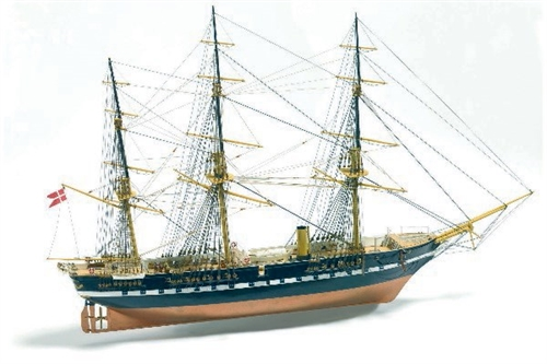 1:100 FREGATTEN JYLLAND LIMITED EDITI -WOODEN HULL