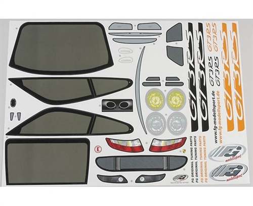 Decal set Porsche GT3 RSR