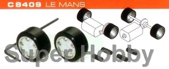 2 stk. hubs & silicon rubber tyres LE MANS