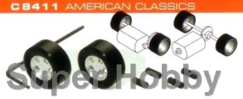 2 stk. hubs & silicon rubber tyres American Classics