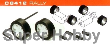 2 stk. hubs & silicon rubber tyres Rally