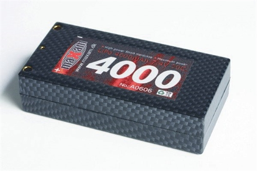 LIPO 7,4V 4000MAH 50C SHORT 4MM GOLD SOCKET (HC)