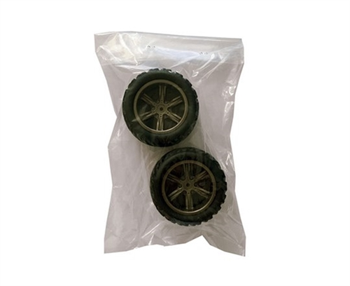 Tire with grey wheel rim for Super Power Racer1:12