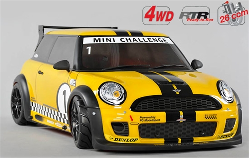 4WD 510 RTR Chassis + Trophy gul Karoseri.